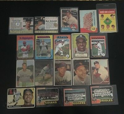 Vintage Old Baseball Cards lot Mixed Lot 50/60/70s