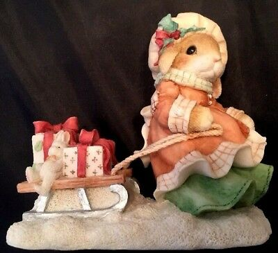 "1996 My Blushing Bunnies Figurine ""The Gift of Friendship is Never Far Behind"""
