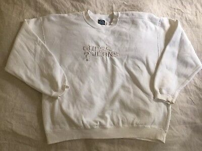 Vintage Guess Jeans USA Sweatshirt White Large 90s 1990 ASAP Rocky Frank Ocean