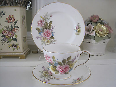 Beautiful Vintage Duchess Summer Fine Bone China Trio ~ As New
