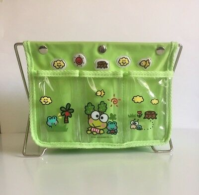 Sanrio Keroppi Folding Storage Container / Organizer Green Frog 2003 Used Cute