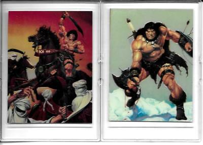 1994 Conan the Barbarian Series II All Chromium Promo Cards In Snap-Tite Cases!