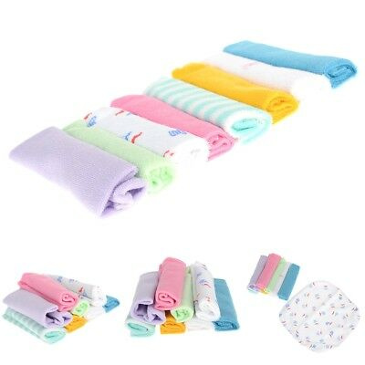 8pcs Baby Infant Newborn Soft Bath Towel Feeding Bibs Wipe Wash Cloth Lot