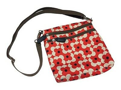 Orla Kiely For Target Red Abacus Flower Shadow Crossbody Bag New