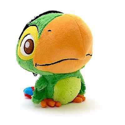 "Disney Jake and the Never Land Skully Parrot Soft Stuffed Plush Toy 4"" 10 cm"