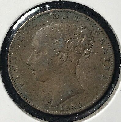 1840 FARTHING - GREAT BRITAIN * GREAT OLD BRITISH COPPER - VICTORIA -Lot#277