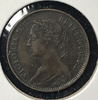 1881H FARTHING - GREAT BRITAIN * GREAT OLD BRITISH COPPER - VICTORIA -Lot#281