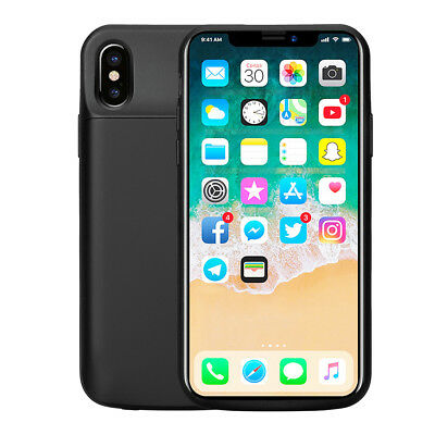 iPhone X Battery Case Ultra Slim 6000mAh Power Bank Portable Charger Cover