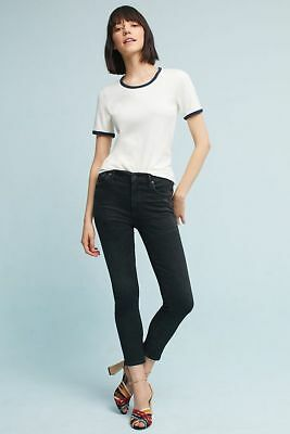 NWT Anthropologie Citizens of Humanity Rocket High-Rise Skinny Crop Black Jeans