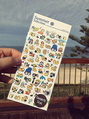 Japanese Cute Shiba Inu dog animals stickers scrapbooking crafts summer time