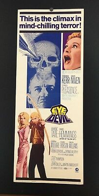 Original 1967 THE EYE OF THE DEVIL Movie Insert Poster 14 x 36 CLASSIC HORROR!
