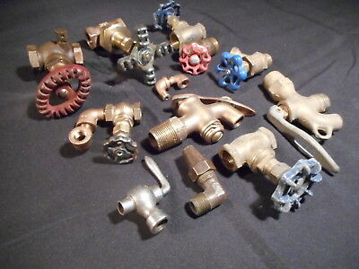 Antique And Vintage Steampunk Brass Valve Lot