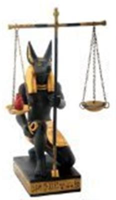 Egyptian Egypt Anubis Scales of Justice Collectible Statue Figurine
