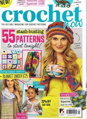CROCHET NOW UK  Magazine No 9, Ladies Children Toys Dolls Hats Bags & Free book