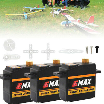 3 Stuck EMAX ES09MD 15g/2.6Kg/0.08s Metal Gear Digital Servo Metallgetriebe Mini