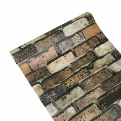 10M 3D Retro Stone Brick Wallpaper Bedroom Mural Roll Wall Background Textured