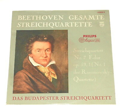"""Budapest String Quartet - 10"""" LP - BEETHOVEN - Rasumowsky - Philips A 01632 R"""