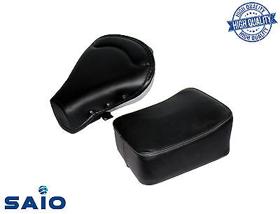 Saio Front + Rear Seat Black For Vespa VBB VBA 125 150 - High Quality