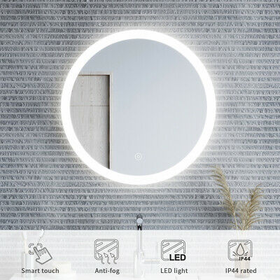 New 840x840mm Round Bathroom Vanity Mirror LED Iighted Touch Switch Wall mounted