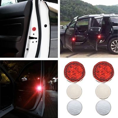 2X Universal Car Door LED Opened Warning Wireless Anti-collid Flash Light Kit