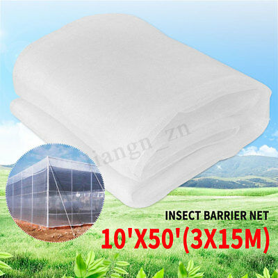 10x50ft Garden Mosquito Netting Bug Bird Insect Hunting Barrier Planter Protect