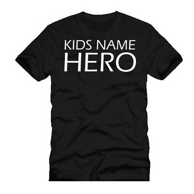 Personalized Fathers Day T-Shirt Birthday Gift Present Idea For Hero Daddy Dad