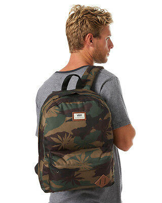 ac1140f725 Vans Off the Wall Camo Peace Leaf Backpack Skating School Gift Rare Old  Skool 2