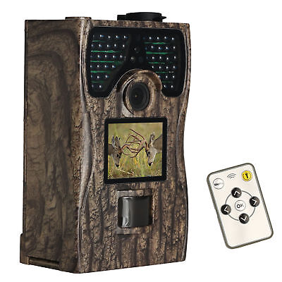 12MP Trail Hunting Camera Night Vision Infrared HD 1080P Wildlife Cam Waterproof