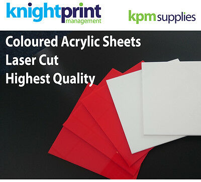 Acrylic Red or White Sheet - Perspex - Gloss - Plastic Panel - Laser cut to size