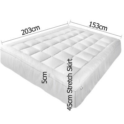 Bedroom Pillowtop Mattress Topper Memory Resistant Protector Pad Cover Queen