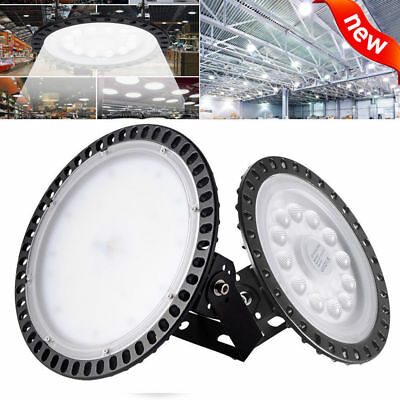 100W 200W 300W UFO LED High Bay Light Commercial Lighting Factory Cool White