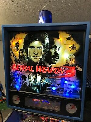 Lethal Weapon 3 Pinball Machine By Data East With LED's & Mirror Blades