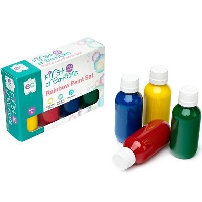 First Creations Rainbow Paint Set 100ml - Set of 4