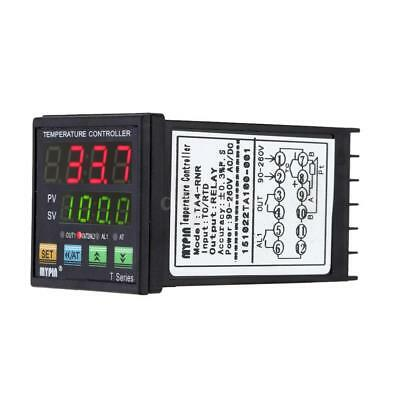 Digital PID Temperature Controller Thermometer Alarm Relay Output TC/RTD S1O4