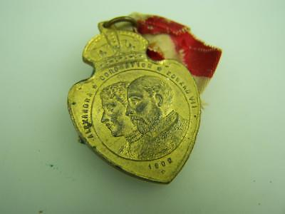 1902 Coronation Edward VII Australian Celebrations medallion & ribbon  3271