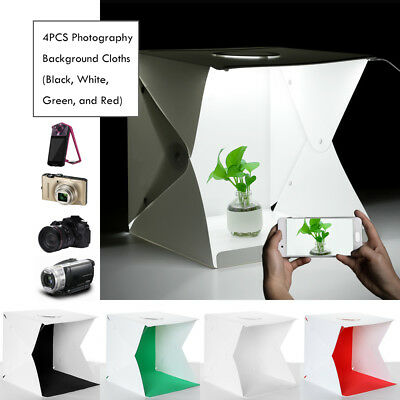 Foldable 40 x 40cm Photo Studio Shooting LED Lighting Tent Portable Cube Box