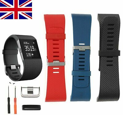 Silicone Replacement Band Wrist Strap Bracelet w/Tool For Fitbit Surge Tracker