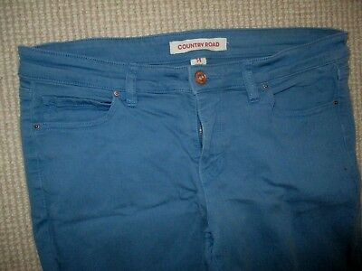 Country Road Girls Womens Mid Blue Stretch Cotton Jeans Sz 14 In Gc