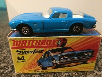 Matchbox Superfast No. 14 ISO Grifo  in Original Box (1970)