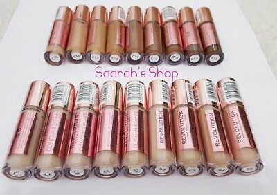 Makeup Revolution Conceal & Define Concealer Full Coverage 18 Shades FastestPost
