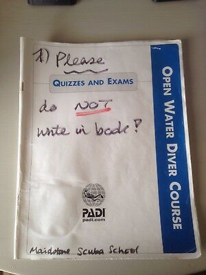 PADI OPEN WATER Course Quizzes and Exams