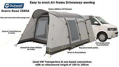 Outwell Scenic Road 250SA - Driveaway Air Awning - Ideal T4,T5,T6