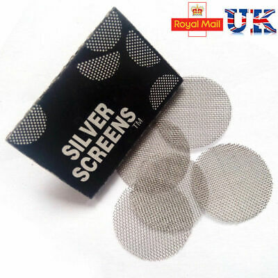 Metal Pipe Screens Silver,Pipes Screens Gauzes Premium Steel Free Postage lot