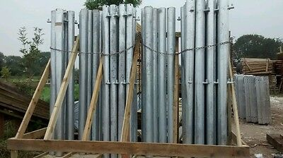 Galvanised Metal Farm Gate Hanging Posts 114.3Mm (4 1/2) Dia X 2000Mm Long