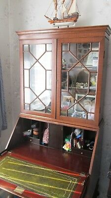 Antique bureau with display cabinet over...condition as pics.