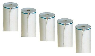 5 x Telex Rolls Double Foldable 210mm A4/50 M Long 25mm core with randdruck