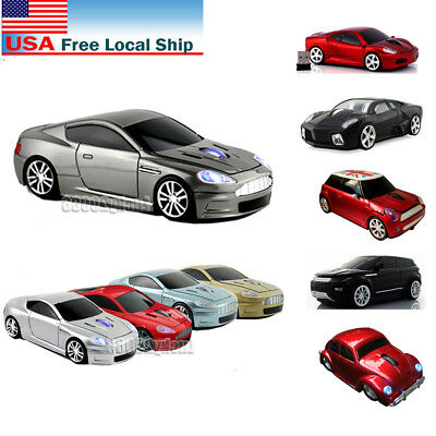 US Cordless 2.4Ghz Wireless Optical Car Mouse Laptop PC Mice + USB Receiver Gift