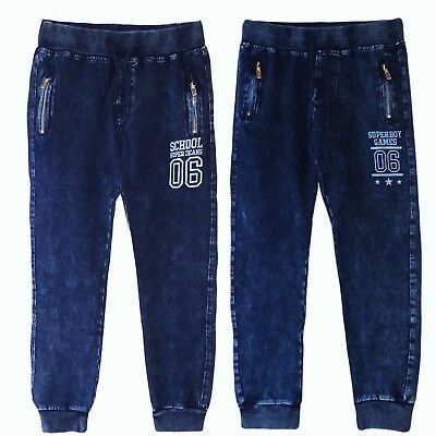 Kinder Jungen Jogger Schlupfhose Stretch Hose Jeans Sweatpants Sweathose Jungs
