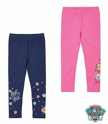 Paw Patrol Leggings Glitzerdruck marine pink Gr 104 110 116 128