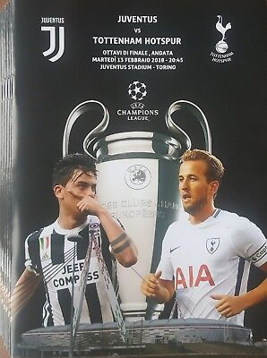 2018 JUVENTUS v TOTTENHAM HOTSPUR SPURS GLOSSY PROGRAMME FROM GROUND